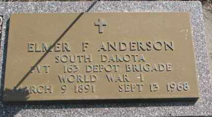 ANDERSON, ELMER F. - Clay County, South Dakota | ELMER F. ANDERSON - South Dakota Gravestone Photos