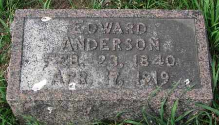 ANDERSON, EDWARD - Clay County, South Dakota | EDWARD ANDERSON - South Dakota Gravestone Photos