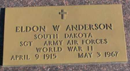 ANDERSON, ELDON W. - Clay County, South Dakota   ELDON W. ANDERSON - South Dakota Gravestone Photos