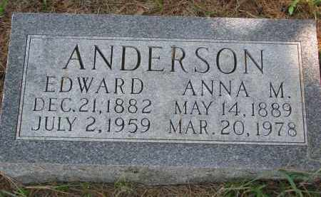 ANDERSON, EDWARD - Clay County, South Dakota | EDWARD ANDERSON - South Dakota Gravestone Photos