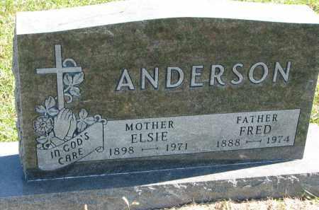 ANDERSON, ELSIE - Clay County, South Dakota | ELSIE ANDERSON - South Dakota Gravestone Photos