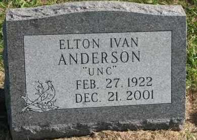 ANDERSON, ELTON IVAN - Clay County, South Dakota   ELTON IVAN ANDERSON - South Dakota Gravestone Photos