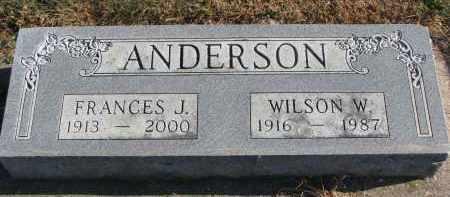 ANDERSON, WILSON W. - Clay County, South Dakota | WILSON W. ANDERSON - South Dakota Gravestone Photos