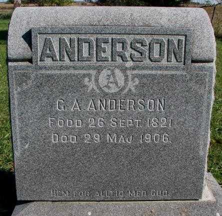 ANDERSON, G.A. - Clay County, South Dakota | G.A. ANDERSON - South Dakota Gravestone Photos