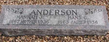 ANDERSON, HANS G. - Clay County, South Dakota | HANS G. ANDERSON - South Dakota Gravestone Photos
