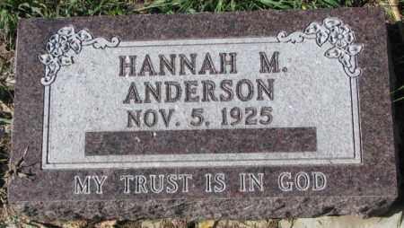 ANDERSON, HANNAH M. - Clay County, South Dakota   HANNAH M. ANDERSON - South Dakota Gravestone Photos