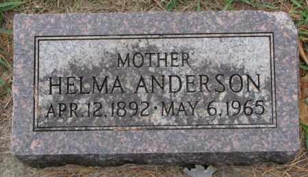 ANDERSON, HELMA - Clay County, South Dakota | HELMA ANDERSON - South Dakota Gravestone Photos