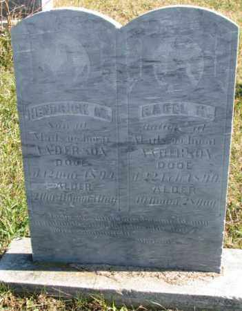 ANDERSON, RACEL K. - Clay County, South Dakota | RACEL K. ANDERSON - South Dakota Gravestone Photos