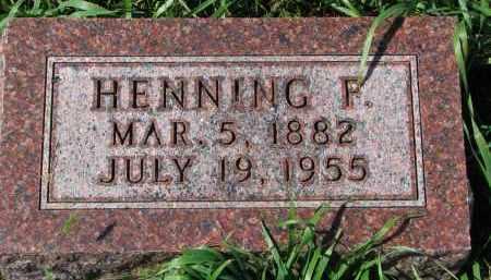 ANDERSON, HENNING F. - Clay County, South Dakota | HENNING F. ANDERSON - South Dakota Gravestone Photos