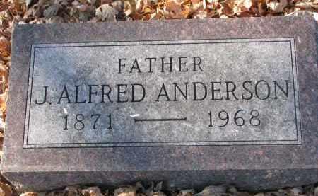 ANDERSON, J. ALFRED - Clay County, South Dakota   J. ALFRED ANDERSON - South Dakota Gravestone Photos