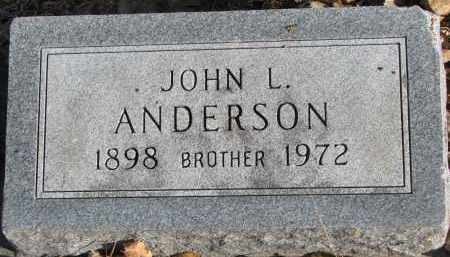 ANDERSON, JOHN L. - Clay County, South Dakota | JOHN L. ANDERSON - South Dakota Gravestone Photos