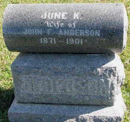 ANDERSON, JUNE K. - Clay County, South Dakota | JUNE K. ANDERSON - South Dakota Gravestone Photos