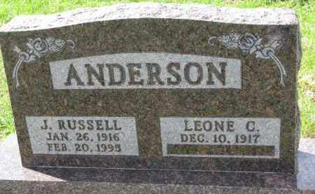 ANDERSON, J. RUSSELL - Clay County, South Dakota   J. RUSSELL ANDERSON - South Dakota Gravestone Photos