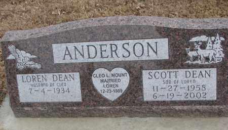 ANDERSON, SCOTT DEAN - Clay County, South Dakota | SCOTT DEAN ANDERSON - South Dakota Gravestone Photos