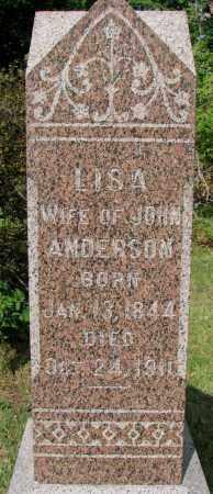 ANDERSON, LISA - Clay County, South Dakota | LISA ANDERSON - South Dakota Gravestone Photos