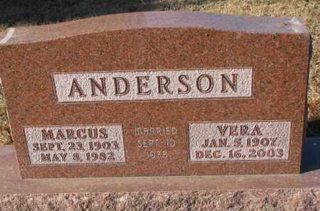 ANDERSON, VERA - Clay County, South Dakota | VERA ANDERSON - South Dakota Gravestone Photos