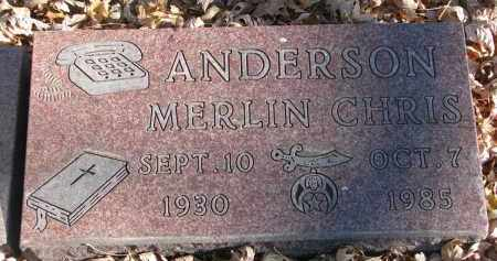 ANDERSON, MERLIN CHRIS - Clay County, South Dakota | MERLIN CHRIS ANDERSON - South Dakota Gravestone Photos