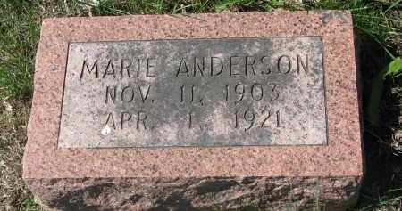 ANDERSON, MARIE - Clay County, South Dakota | MARIE ANDERSON - South Dakota Gravestone Photos