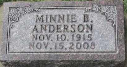 ANDERSON, MINNIE B. - Clay County, South Dakota | MINNIE B. ANDERSON - South Dakota Gravestone Photos