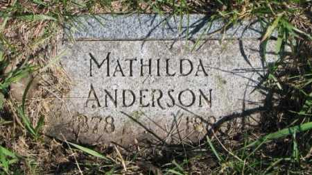ANDERSON, MATHILDA - Clay County, South Dakota | MATHILDA ANDERSON - South Dakota Gravestone Photos