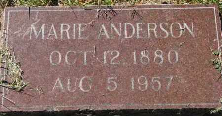 ANDERSON, MARIE - Clay County, South Dakota | MARIE ANDERSON - South Dakota Gravestone Photos