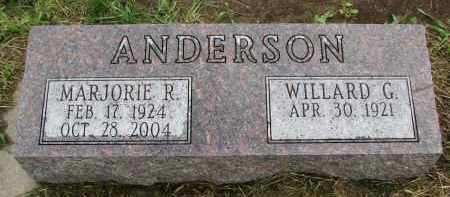 ANDERSON, WILLARD G. - Clay County, South Dakota | WILLARD G. ANDERSON - South Dakota Gravestone Photos