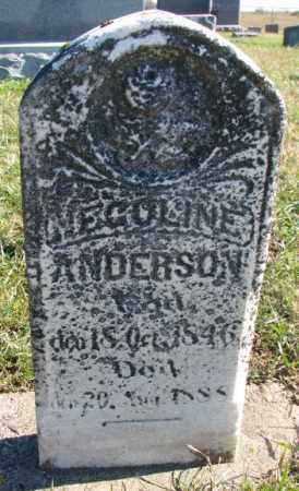 ANDERSON, NECOLINE - Clay County, South Dakota | NECOLINE ANDERSON - South Dakota Gravestone Photos