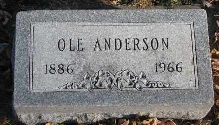 ANDERSON, OLE - Clay County, South Dakota | OLE ANDERSON - South Dakota Gravestone Photos