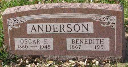 ANDERSON, BENEDITH - Clay County, South Dakota   BENEDITH ANDERSON - South Dakota Gravestone Photos