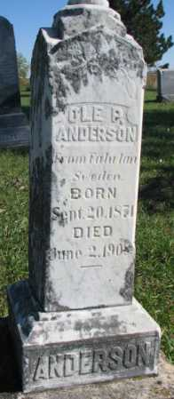 ANDERSON, OLE P. - Clay County, South Dakota | OLE P. ANDERSON - South Dakota Gravestone Photos