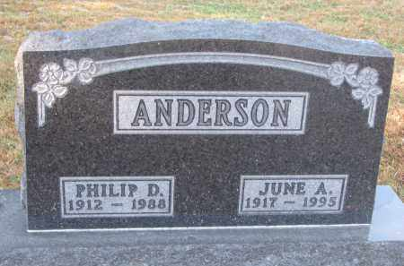 ANDERSON, PHILIP D. - Clay County, South Dakota | PHILIP D. ANDERSON - South Dakota Gravestone Photos