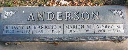 ANDERSON, ALFRED M. - Clay County, South Dakota | ALFRED M. ANDERSON - South Dakota Gravestone Photos