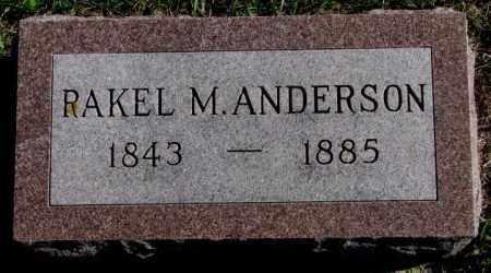 ANDERSON, RAKEL M. - Clay County, South Dakota   RAKEL M. ANDERSON - South Dakota Gravestone Photos