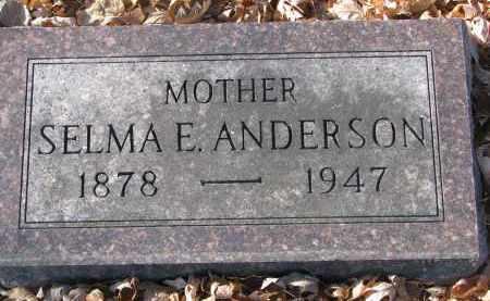 ANDERSON, SELMA E. - Clay County, South Dakota | SELMA E. ANDERSON - South Dakota Gravestone Photos