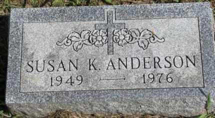 ANDERSON, SUSAN K. - Clay County, South Dakota   SUSAN K. ANDERSON - South Dakota Gravestone Photos
