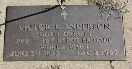 ANDERSON, VICTOR L. - Clay County, South Dakota | VICTOR L. ANDERSON - South Dakota Gravestone Photos
