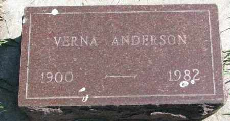 ANDERSON, VERNA - Clay County, South Dakota | VERNA ANDERSON - South Dakota Gravestone Photos