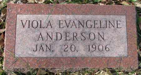 ANDERSON, VIOLA EVANGELINE - Clay County, South Dakota | VIOLA EVANGELINE ANDERSON - South Dakota Gravestone Photos
