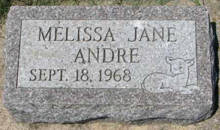ANDRE, MELISSA JANE - Clay County, South Dakota | MELISSA JANE ANDRE - South Dakota Gravestone Photos