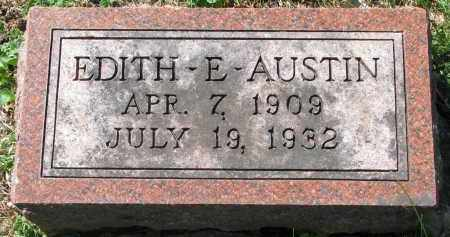 AUSTIN, EDITH E. - Clay County, South Dakota | EDITH E. AUSTIN - South Dakota Gravestone Photos