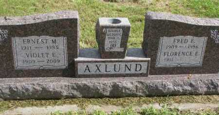 AXLUND, FLORENCE E. - Clay County, South Dakota | FLORENCE E. AXLUND - South Dakota Gravestone Photos