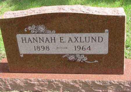 AXLUND, HANNAH E. - Clay County, South Dakota | HANNAH E. AXLUND - South Dakota Gravestone Photos