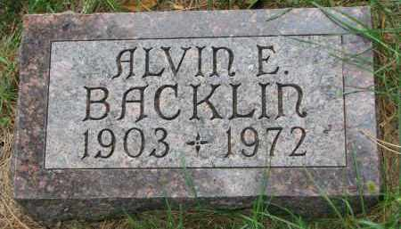 BACKLIN, ALVIN E. - Clay County, South Dakota | ALVIN E. BACKLIN - South Dakota Gravestone Photos