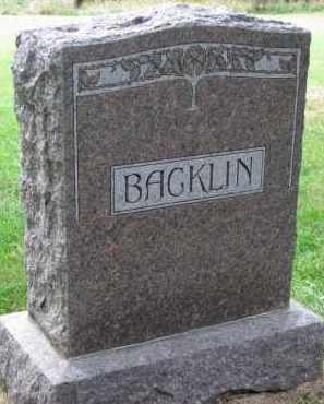 BACKLIN, FAMILY STONE - Clay County, South Dakota | FAMILY STONE BACKLIN - South Dakota Gravestone Photos