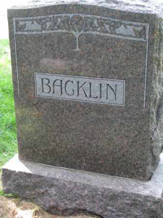 BACKLIN, FAMILY STONE - Clay County, South Dakota | FAMILY STONE BACKLIN - South Dakota Gravestone Photos
