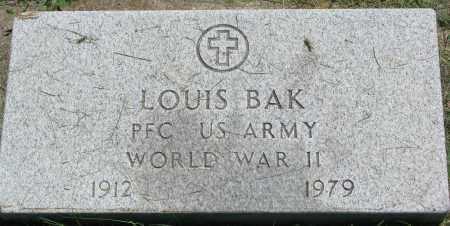 BAK, LOUIS - Clay County, South Dakota   LOUIS BAK - South Dakota Gravestone Photos