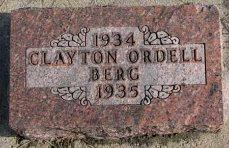 BERG, CLAYTON ORDELL - Clay County, South Dakota | CLAYTON ORDELL BERG - South Dakota Gravestone Photos