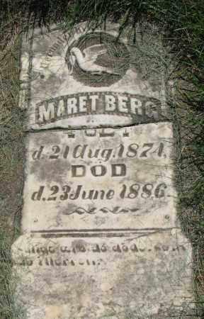 BERG, MARET - Clay County, South Dakota   MARET BERG - South Dakota Gravestone Photos