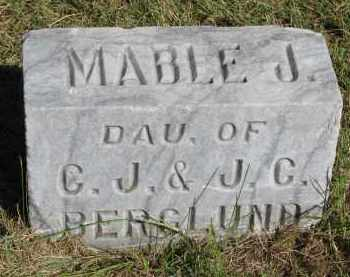 BERGLUND, MABLE J. - Clay County, South Dakota | MABLE J. BERGLUND - South Dakota Gravestone Photos