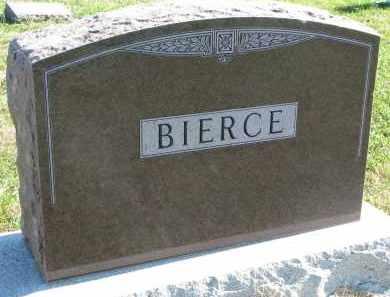 BIERCE, FAMILY STONE - Clay County, South Dakota | FAMILY STONE BIERCE - South Dakota Gravestone Photos